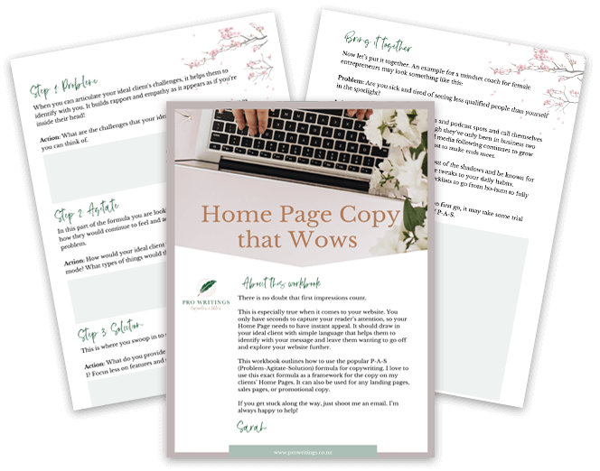 Home page copy that WOWS image